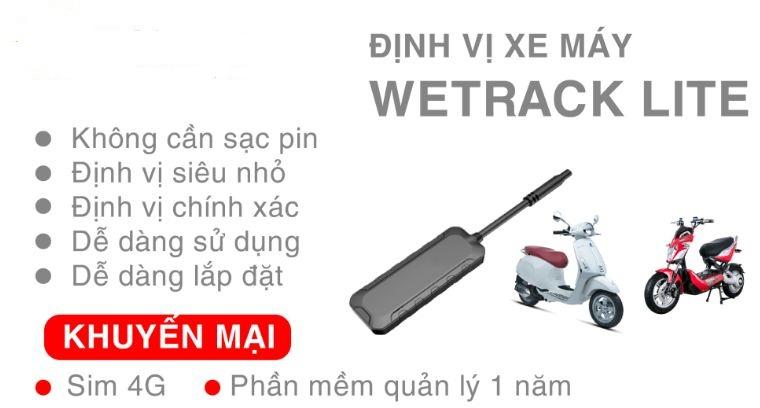 Định vị xe máy Wetrack Lite